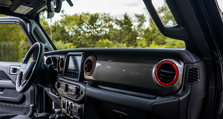 2020 Jeep Wrangler Sahara Red Accent Build Red Bezels